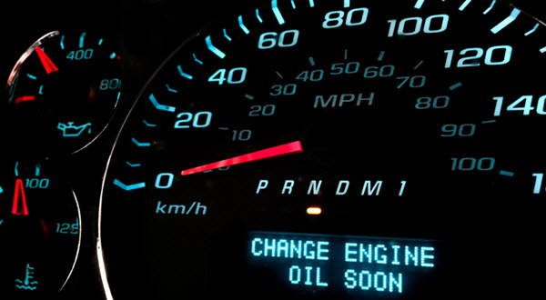 Change Engine Oil Message