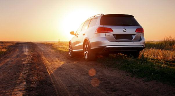 Volkswagen Passat On Dirt Road