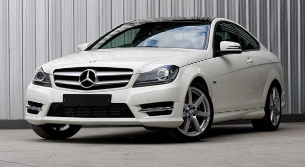 White Mercedes-Benz C180
