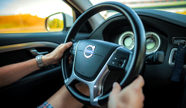 Man Driving Volvo