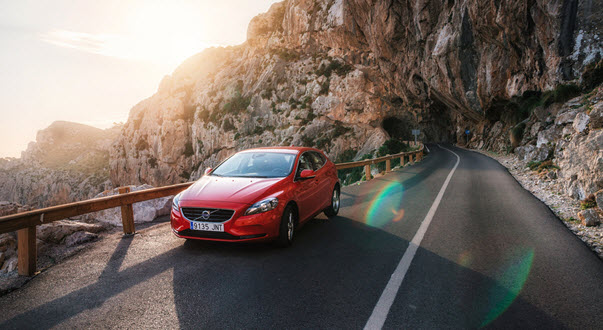 Red Volvo Car