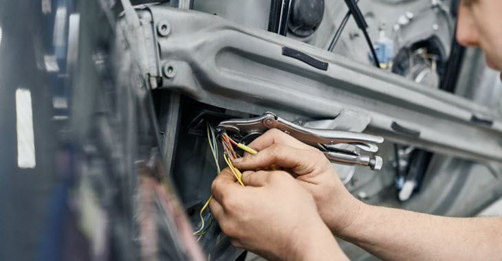 Jaguar Window Cable Check